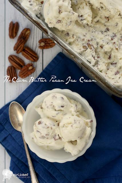 No-Churn Butter Pecan Ice Cream
