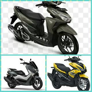 Penjualan motor juli 2017 honda vario techno 150 unggul dari Yamaha Aerox 155 dan Nmax 155