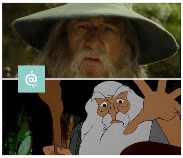 Gandalf - El Señor de los Anillos: Peter Jackson Vs Ralph Bakshi / La Comunidad del Anillo - ÁlvaroGP - el fancine - el troblogdita