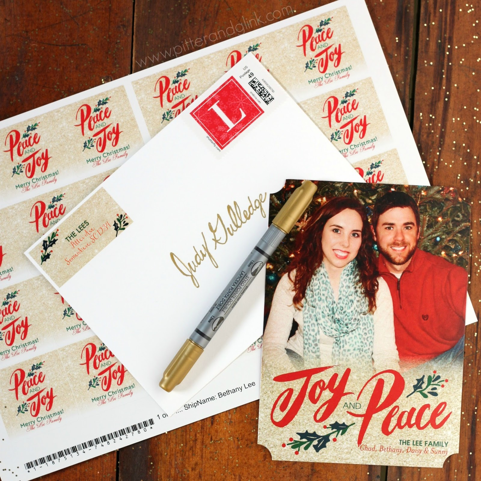 PitterAndGlink: Perfectly Personal™ Holiday Cards with Shutterfly