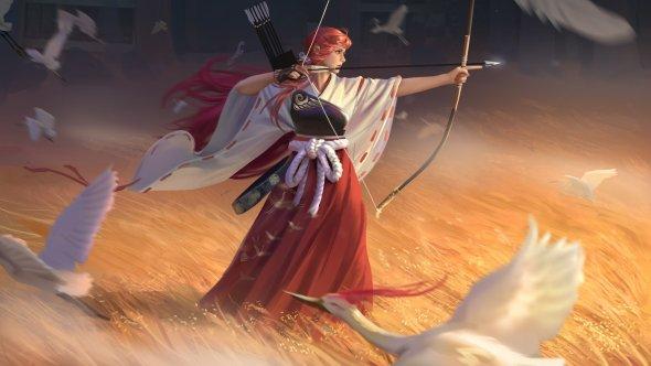 Hou China artstation arte ilustrações fantasia mulheres
