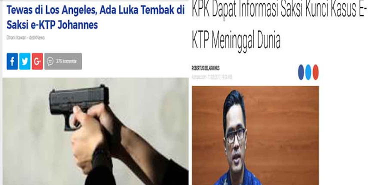 Netizen Curiga Isu Kematian Johannes Modus Hilangkan Barang Bukti Korupsi e-KTP