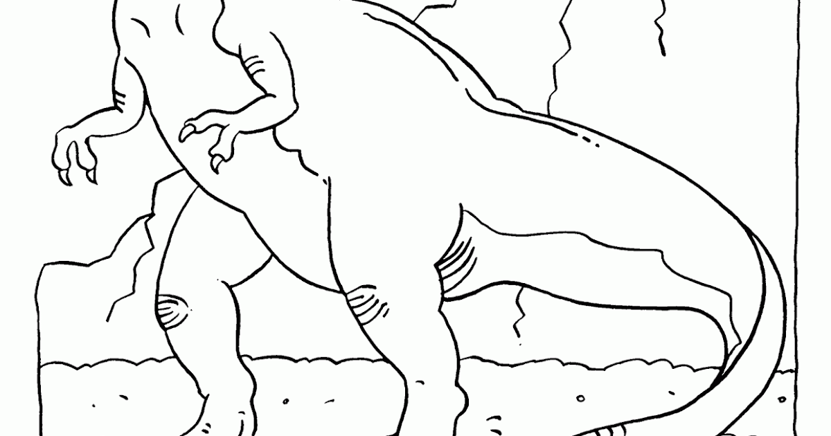 Lastik Cocuk Dergisi T Rex Minikler Icin Boyama