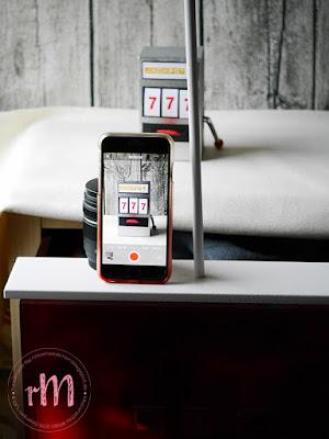 Stampin' Up! rosa Mädchen Kulmbach: Slot Machine zum Geburtstag mit Labeler Alphabet und ABC - 123 Outline Alphabet & Numbers