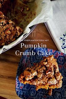 Vegan Pumpkin Crumb Cake Pecan Topping The Plant Eaters