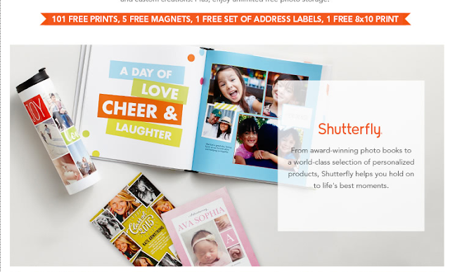 Shutterfly Free products and gifts