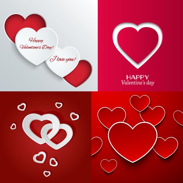 Corazones de San Valentín col. 2 - Vector