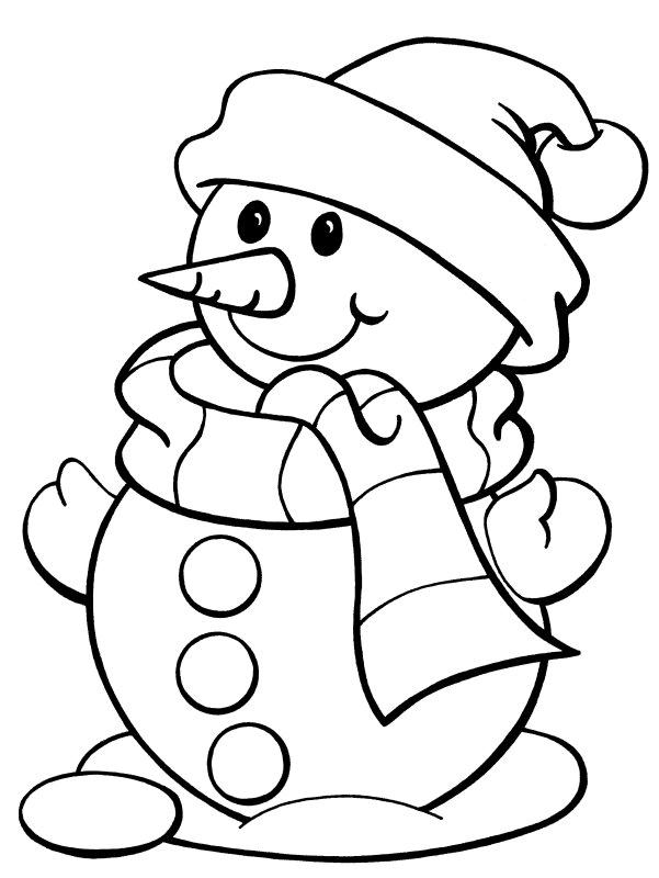 Gambar Mewarnai Manusia Salju Untuk Anak Paud Dan Tk