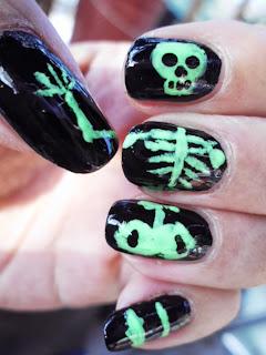 manicura esqueleto