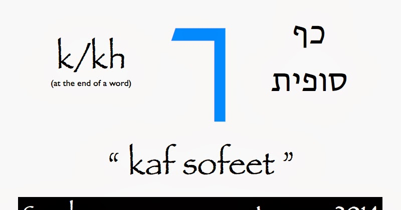 HebrewSpeaker: Welcome! Today's Hebrew letter is