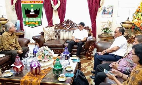 Gubernur Irwan Terima Rombongan Kemendikbud, Bahas Usulan Istana Bung Hatta Jadi Museum