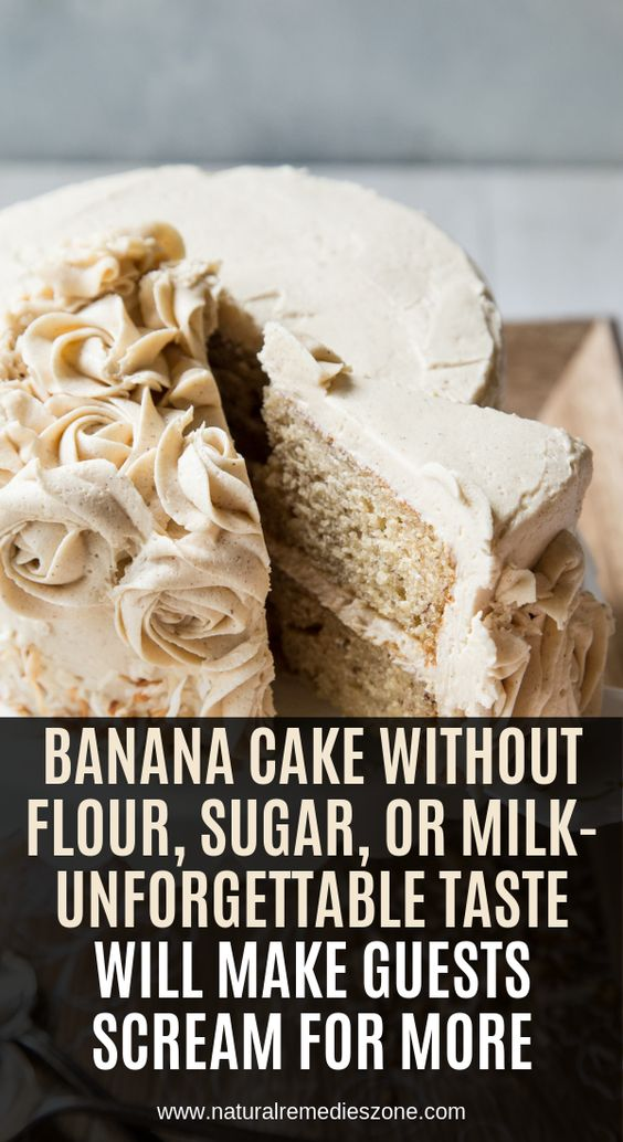 oday, we reveal the recipe of a speckled banana cake that has the fluffiest coconut frosting you have ever tried! However, despite its amazing taste, this cake is a healthy dessert that you and your family can enjoy whenever you feel like having something sweet. It is dairy and sugar-free, easy and quick to make,