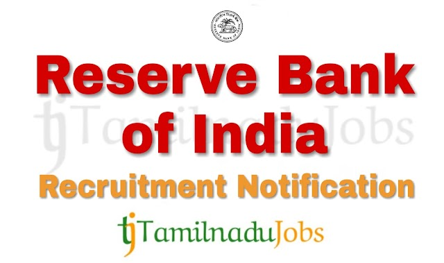 RBI Recruitment notification of 2018 - for Officers - 61 post