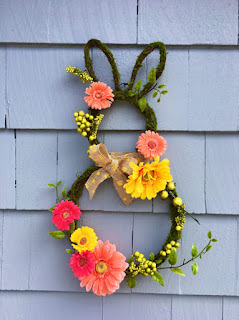 easter bunny wreath from Etsy
