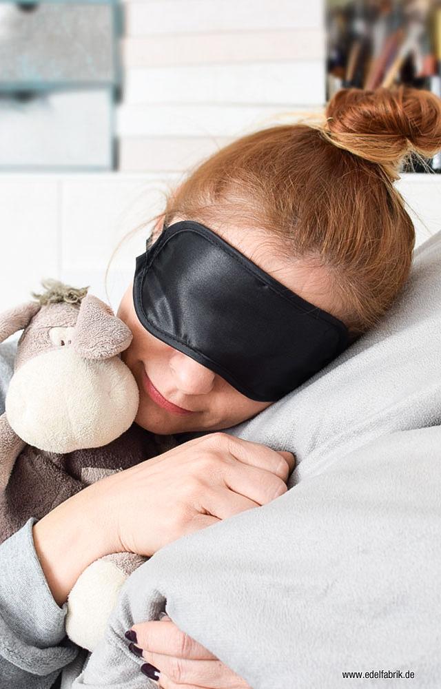 Schlafen mit einem Dutt