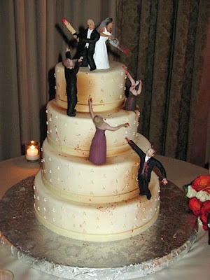Lustige Hochzeitstorte - Zombies bekämpfen