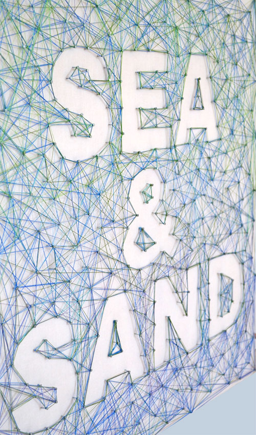sea and sand string art