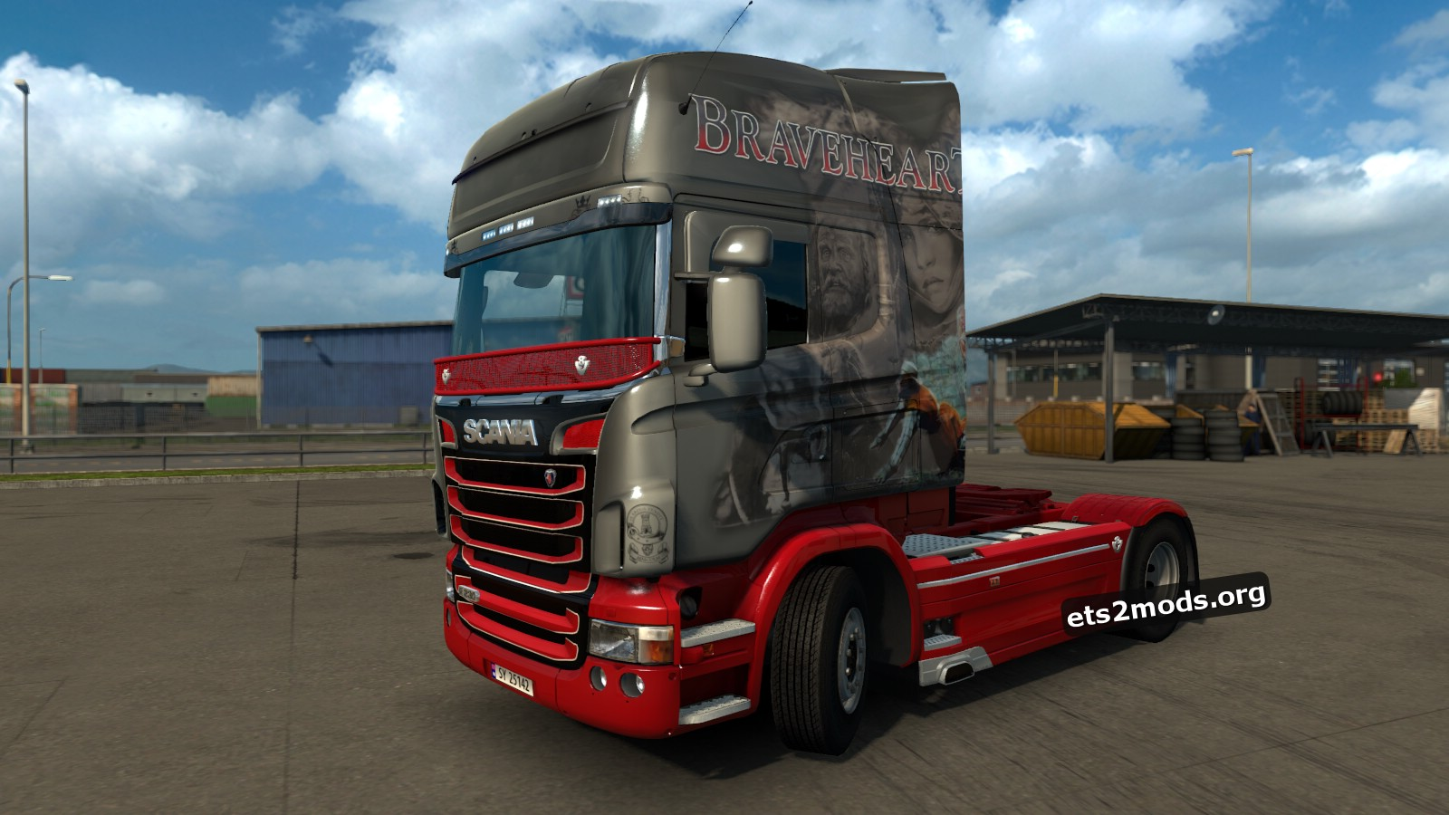 Malcolm Braveheart Skin for Scania RJL