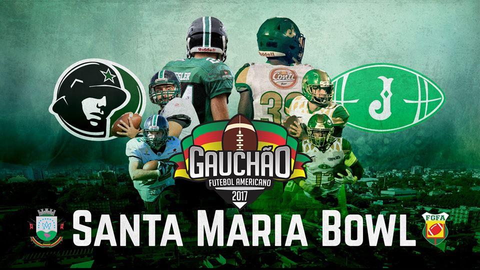 cbe3ef77e0 Decisão do Campeonato Gaúcho 2017 - Santa Maria Bowl - FGFA. Santa Maria  Soldiers X Juventude F.A.