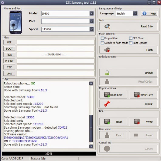 Mobile Phone Repairing   ZAKIR GSM: samsung galaxy s3 imei null null baseband unknown Done 100% ...:::ZAKIR GSM:::...