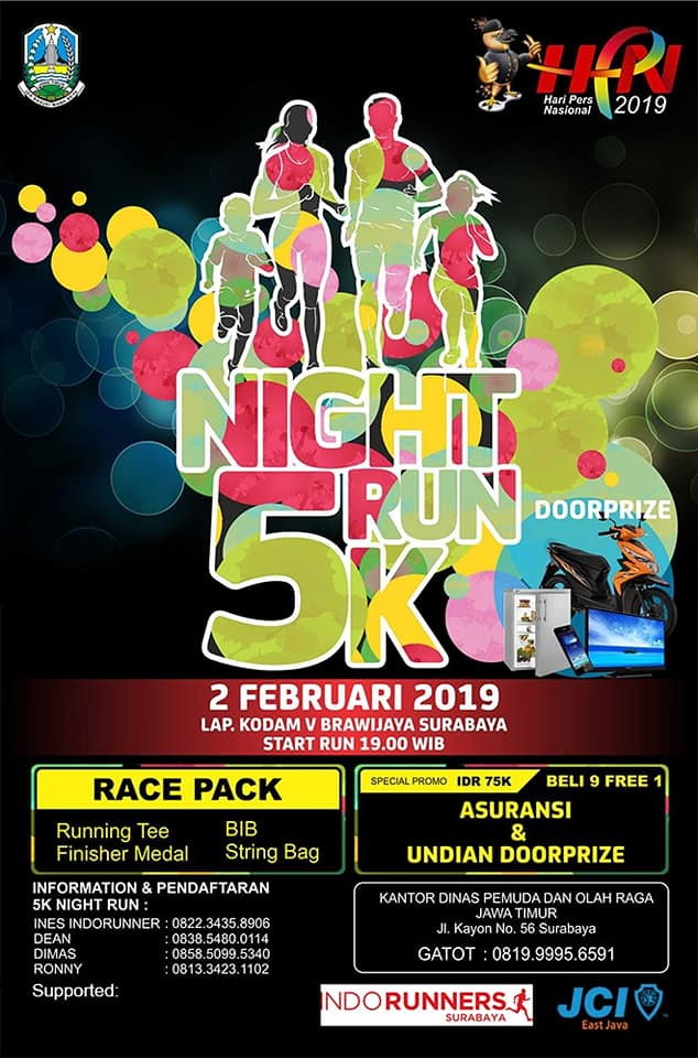 Night Run 5K - Hari Pers Nasional • 2019