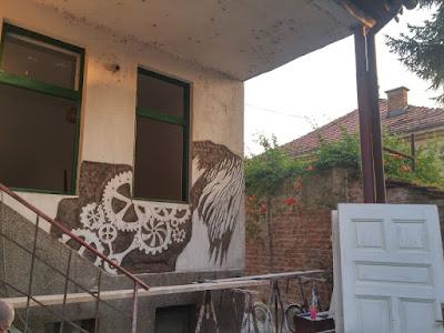 Mural en pared vieja