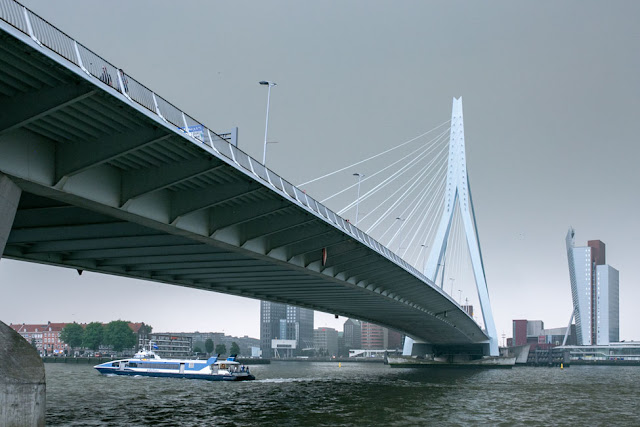 rotterdam bridge river exploring europe by train