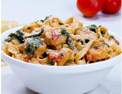 Spinach Shrimp Pasta recipe