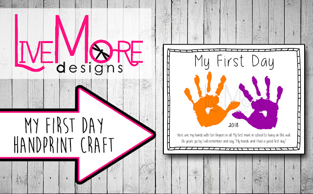 image relating to First Day of Preschool Printable identified as Our Ridiculous Homeschool Daily life: 1st Working day Of Preschool Handprint