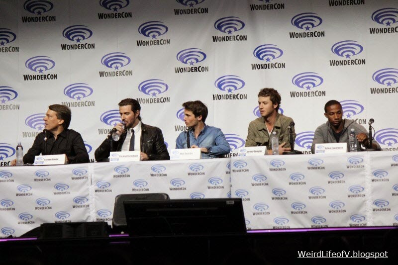 Into the Storm panel : Steve Quale, Richard Armitage, Max Deacon, Jeremy Sumpter and Arlen Escarpeta