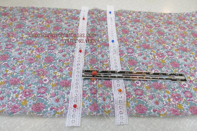 como coser cintas bordadas