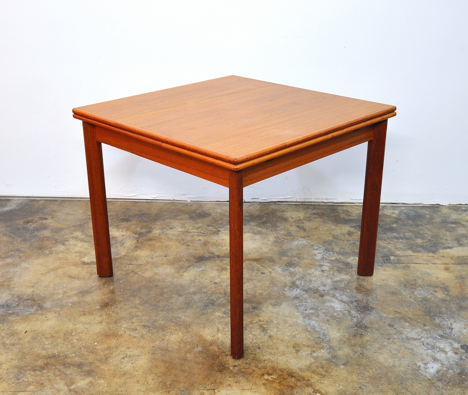 Expandable Dining Room Tables Modern: SELECT MODERN: BRDR. Furbo Teak Expandable Dining Room Table