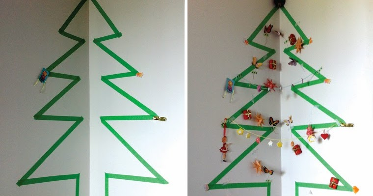 Mima Moo Diy Masking Tape Christmas Tree
