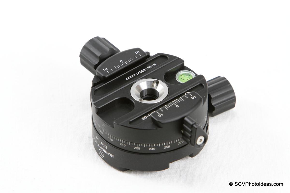 Sunwayfoto DDY-58 Discal QR + DDH-03 PC - assembly DDH-03 side