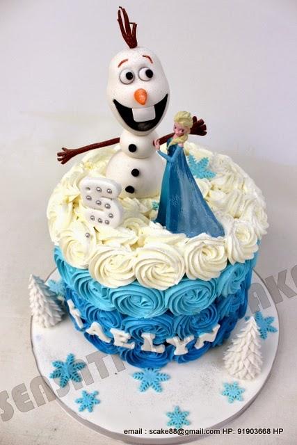 The Sensational Cakes Frozen Snow Man Theme Cake
