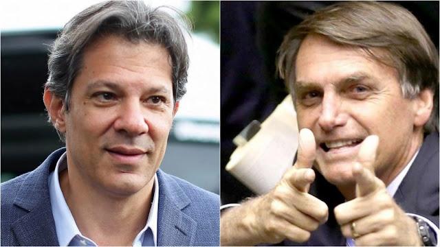 Bolsonaro tem 58% dos votos válidos e mantém vantagem sobre Haddad, diz XP/Ipespe
