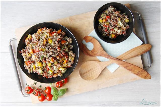 mediterraner Quinoa Salat