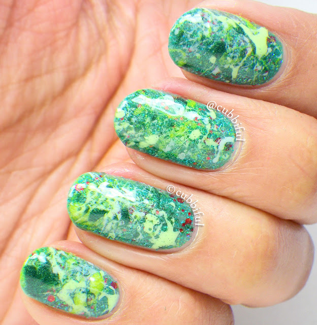 Splatter Spring Nails