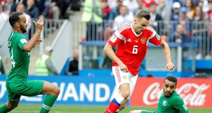 Rusia completa la fiesta de apertura del Mundial con un triunfo 5-0 sobre Arabia Saudí