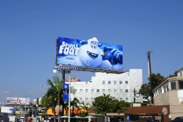 Smallfoot movie billboard