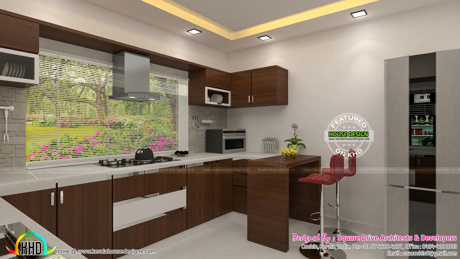 Guest Bedroom Kitchen Interiors Kerala Home Design And Floor Plans