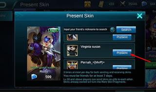 Cara Mengirimkan Skin Mobile Legends