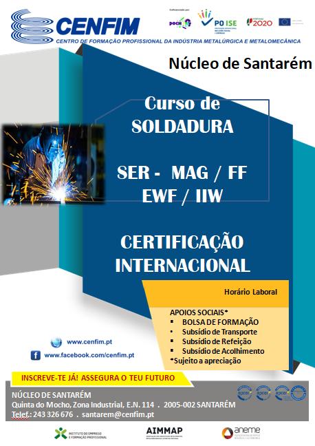 Curso de soldadura em Santarém (certificação internacional)