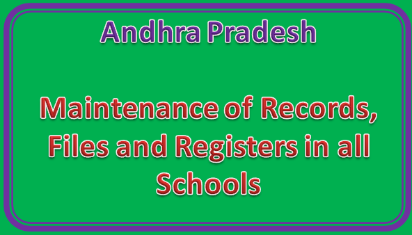 Rc No 290 || Maintenance of Records, Files and Registers in all Schools