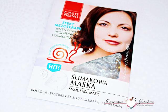 Estetica, Czyste Piękno, Ślimakowa maska do twarzy