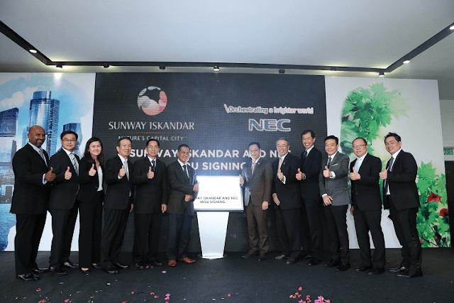 Sunway Iskandar, NEC Asia Pacific Pte Ltd, Smart City Solutions,