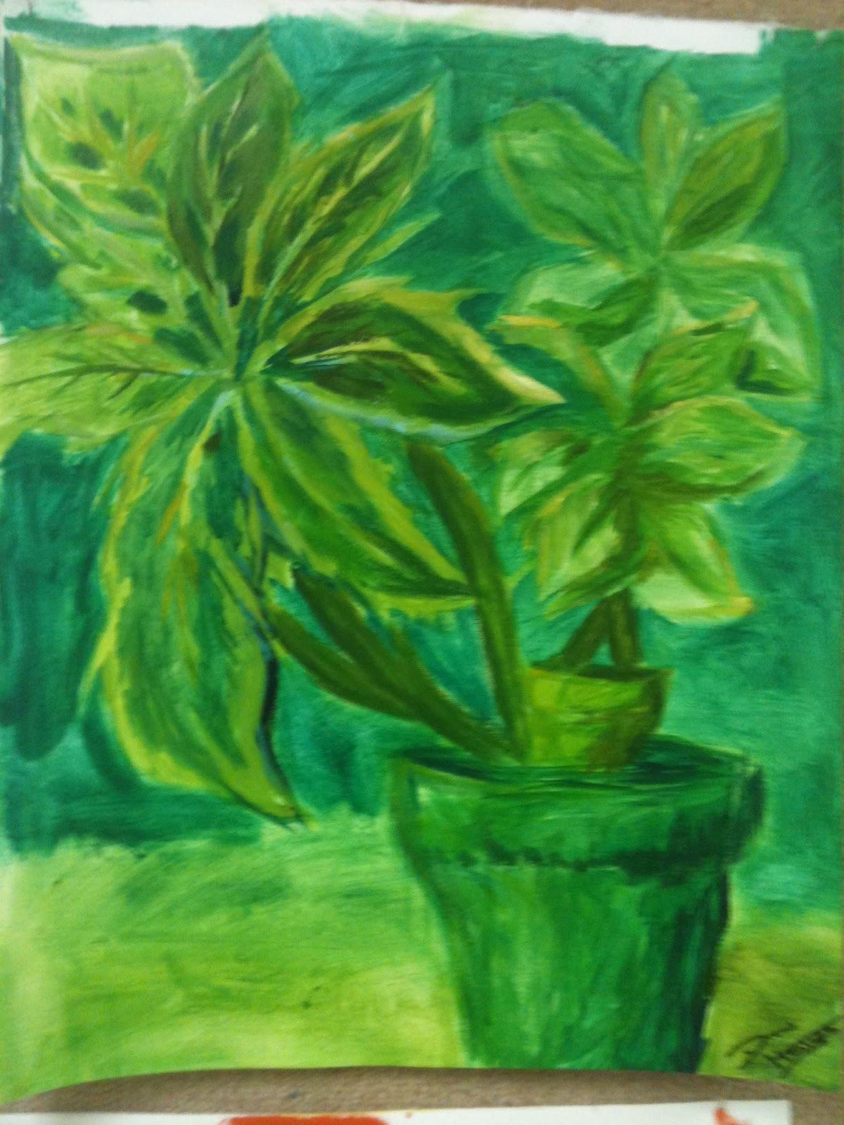 Drew Blog Painting Analogous Color Scheme Still Life