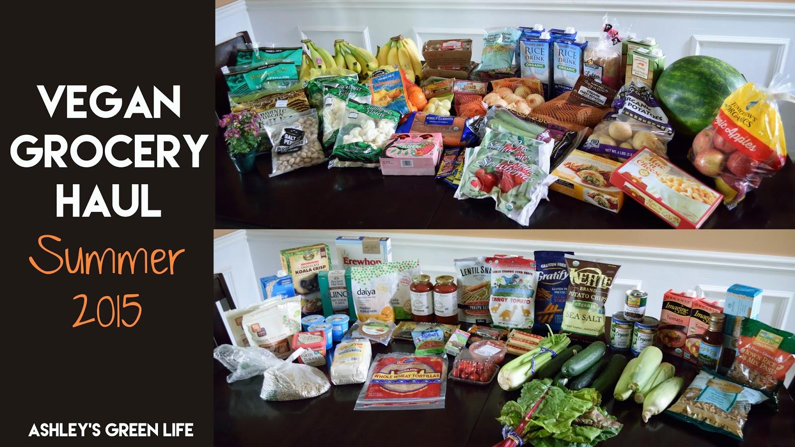 Ashley's Green Life: Vegan Grocery Haul: Summer 2015