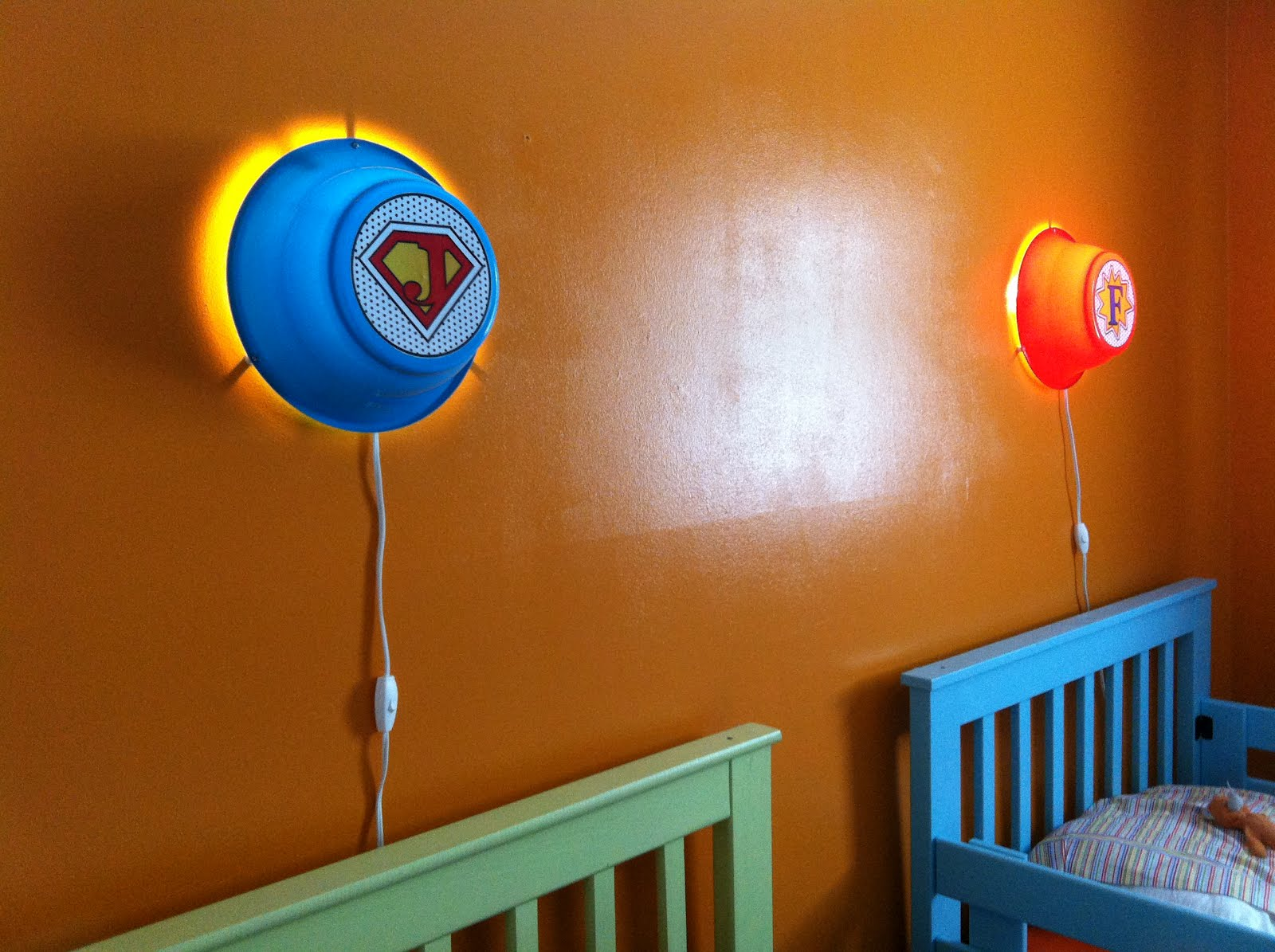 Smila wall lamps into custom kids' super hero night lights ...