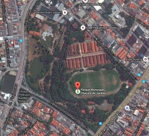 Localização do Parque Chácara do Jockey